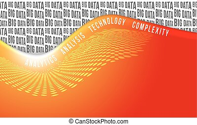 Vector red abstract background with big data headline
