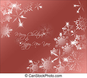 Vector red abstract Christmas background