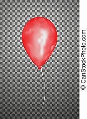 Vector red air balloon. Eps10.