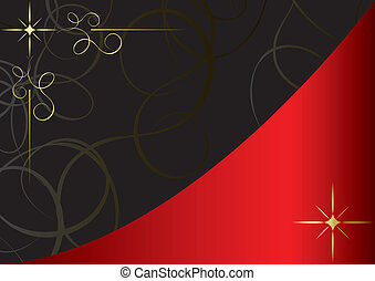 vector red and black vintage card