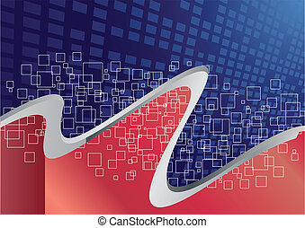 Vector red and blue background