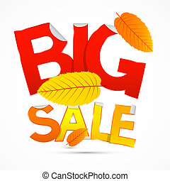 Vector Red and Orange Big Sale Sticker - Label