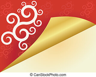 Vector  red background with swirls