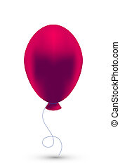 Vector red balloon isolated on white. Eps10