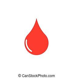 Vector red blood drop