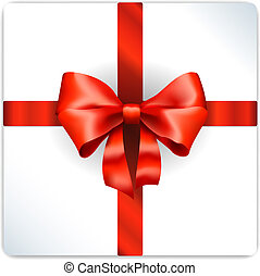 Red bow isolated - Vector Red bow isolated on white ...