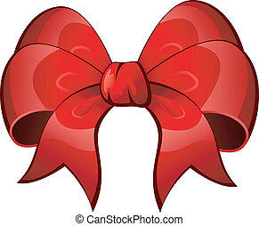 Vector Red Bow over white. EPS 8, AI, JPEG