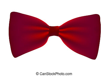 Vector red  bow-tie isolated on white