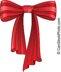 vector red bow