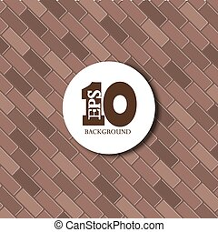 vector red brick background texture. Eps10