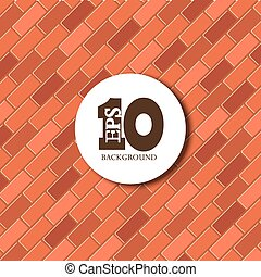 vector red brick background texture.