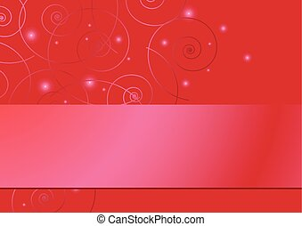 vector red card with tracery and stars