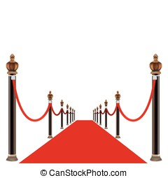 red carpet - Vector red carpet entrance with the stanchions...