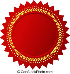 Vector red certificate isolated on white background