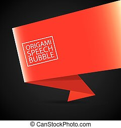 vector red christmas origami speech bubble banner - Merry Christmas In Greek Language