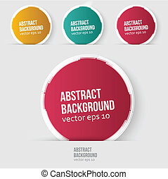 Vector red circle. Abstract background