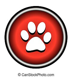 Vector red circle icon