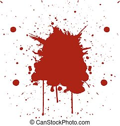 Vector red color splatter. illustration vector