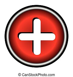 Vector red cross icon.