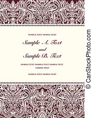 Vector Red Damask Frame