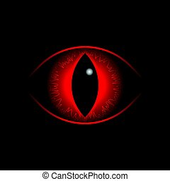 Vector red dragon eye. - Vector red dragon Eye of insane,...