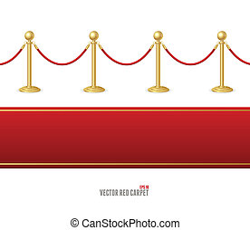 Vector red event carpet and Barrier rope