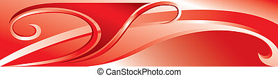 Vector red flourish background for you design