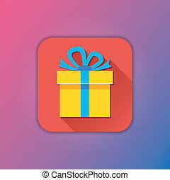 Vector Red Gift Icon