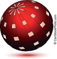 Vector red globe