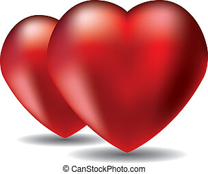 vector red hearts
