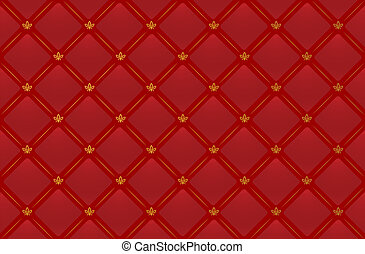 Vector red leather background