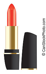red lipstick - vector red lipstick isolated on white