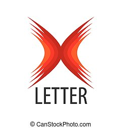 vector red logo Abstract letter X