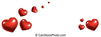 red love hearts banner