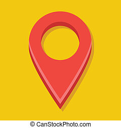 Vector Red Map Label