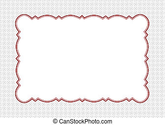 Vector Red Ornate Frame and Swirl Background