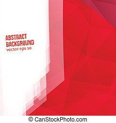 Vector red polygons. Abstract background