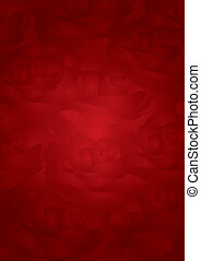 Vector red roses background