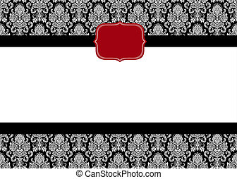 Vector Red Seal Frame and Pattern