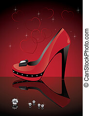 red shoe - vector red shoe