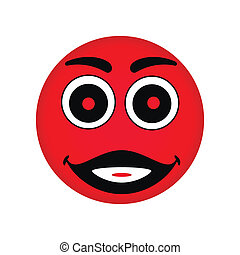 Vector red smiley