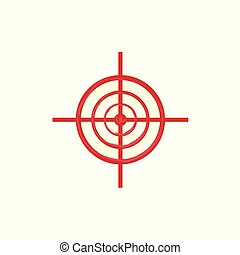 Vector red sniper scope aim, target icon