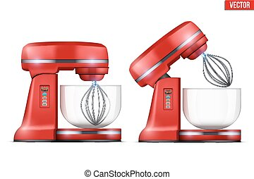 Vector Red Stand Mixer