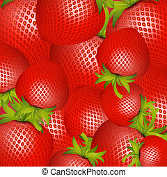 Vector Red Strawberries Background