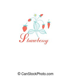 Vector red strawberries