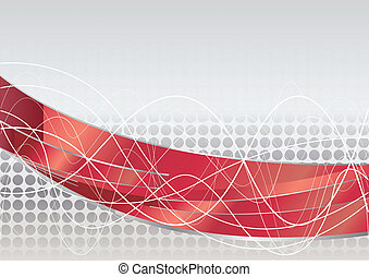 Vector red tech background; clip-art