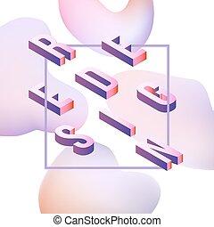 Vector redesign vibrant gradient poster template - Trendy ...