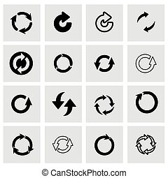 Vector refresh icon set