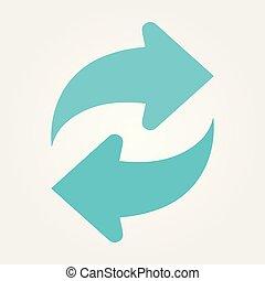 Vector refresh icon. Vector illustration. Eps 10