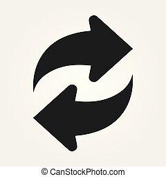 Vector refresh icon. Vector illustration Eps 10
